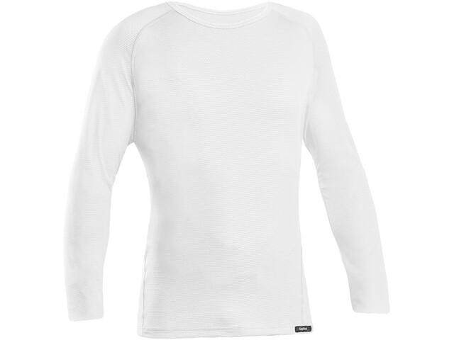 GripGrab Ride Maglietta baselayer a maniche lunghe, white